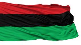 Bandera negra afroamericana panafricana de la liberación de Unia, aislada en blanco stock de ilustración