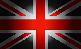 Bandera negra británicos Fotos de archivo