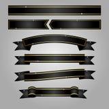 Bandera negra de la cinta Imagenes de archivo