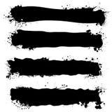 Bandera negra de la tinta Foto de archivo libre de regalías