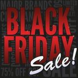 Bandera negra de la venta de viernes Imagenes de archivo