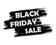Bandera negra de la venta de viernes Fotografía de archivo libre de regalías
