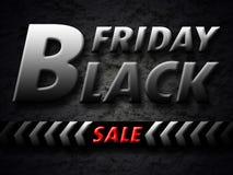 Bandera negra de la venta de viernes Fotos de archivo libres de regalías