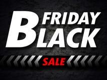 Bandera negra de la venta de viernes Imagen de archivo