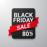 Bandera negra de la venta de viernes Fotos de archivo