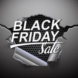 Bandera negra de la venta de viernes en fondo abstracto del metal con el agujero libre illustration