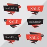 Bandera negra de la venta de viernes Plantilla del diseño del vector de Black Friday Plantilla del diseño del vector de la bander Fotografía de archivo libre de regalías