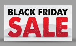 Bandera negra de la venta de viernes stock de ilustración