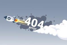 Bandera no encontrada del concepto del problema de conexión a internet del mensaje de error 404 Fotografía de archivo