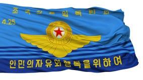 Bandera norcoreana de la fuerza aérea del ejército de gente, aislada en blanco ilustración del vector
