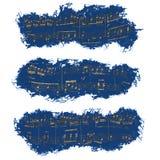 Bandera, notas musicales, fondo imagen de archivo libre de regalías