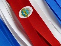 Bandera o bandera de Costa Rica imagen de archivo