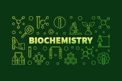 Bandera o ejemplo del esquema del verde del vector de la bioquímica libre illustration