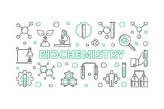 Bandera o ejemplo horizontal del esquema del vector de la bioquímica libre illustration
