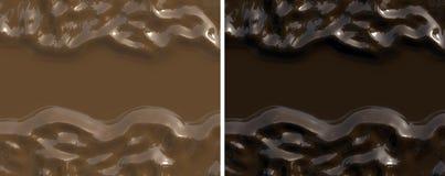 Bandera o fondo del chocolate Fotografía de archivo