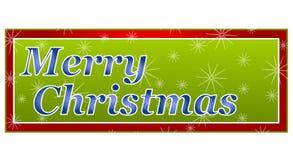 Bandera o insignia de la Feliz Navidad Foto de archivo libre de regalías