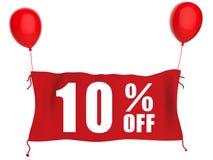 bandera 10%off Imagen de archivo libre de regalías