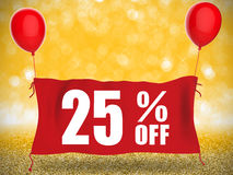 bandera 25%off libre illustration
