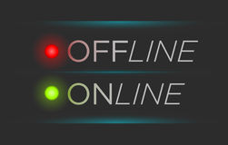 Bandera off-line y en línea del vector Imagenes de archivo