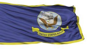 Bandera oficial de las especificaciones de la marina de guerra de Estados Unidos, aislada en blanco libre illustration