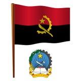 Bandera ondulada de Angola ilustración del vector