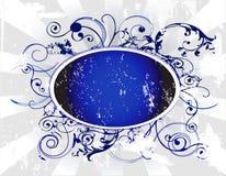 Bandera oval y remolinos ilustración del vector