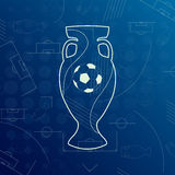 Bandera para el campeonato 2016 de la FIFA del mundo del euro Foto de archivo libre de regalías