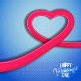 Bandera para el día de tarjeta del día de San Valentín (14 de febrero) Imágenes de archivo libres de regalías
