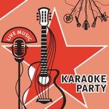 Bandera para el Karaoke Fotos de archivo libres de regalías