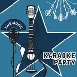 Bandera para el Karaoke Fotografía de archivo libre de regalías