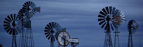 Bandera para la energía eólica Imagen de archivo libre de regalías