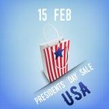 Bandera para la venta de Day de presidentes en los E.E.U.U. Imagen de archivo