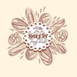 Bandera para una panadería stock de ilustración