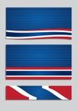 Bandera patriótica Fotografía de archivo libre de regalías