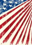 Bandera patriótica americana Fotografía de archivo libre de regalías