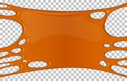 Bandera pegajosa anaranjada del limo con el espacio de la copia stock de ilustración