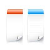 Bandera pegajosa en blanco del papel de la etiqueta para la nota 001 Imágenes de archivo libres de regalías