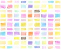 Bandera pintada a mano de la acuarela colorida, movimientos del cepillo Imagen de archivo