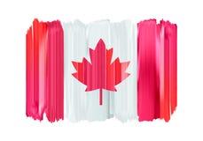 Bandera pintada movimientos coloridos del cepillo de Canadá libre illustration