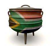 Bandera pintada pote surafricano de Potjie