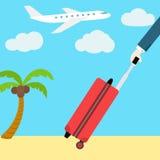 Bandera plana del web del vector Vaya el vacaciones Hombre con a Fotos de archivo libres de regalías