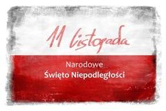 Bandera polaca con la inscripción 9 Foto de archivo libre de regalías
