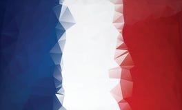 Bandera poligonal de Francia Estilo polivinílico bajo Imágenes de archivo libres de regalías