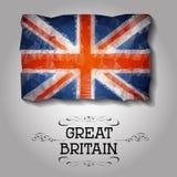 Bandera poligonal geométrica de Gran Bretaña del vector Foto de archivo