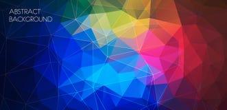Bandera poligonal multicolora horizontal Fondo del vector Fotos de archivo libres de regalías