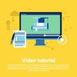 Bandera preceptoral video del web de Concept Modern Technology del redactor Fotografía de archivo