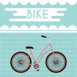 Bandera promocional de la bicicleta ilustración del vector
