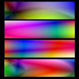 Bandera psicodélica del Web Fotos de archivo