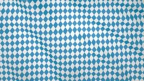 Bandera que agita bávara, imitación de ondas en la bandera imágenes de archivo libres de regalías