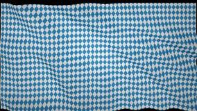 Bandera que agita bávara, imitación de ondas en la bandera fotos de archivo libres de regalías